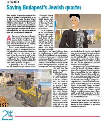 A zsidónegyed drámája a 2life zsidó magazinban