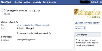 Virtuális zsidónegyed a Facebook-on